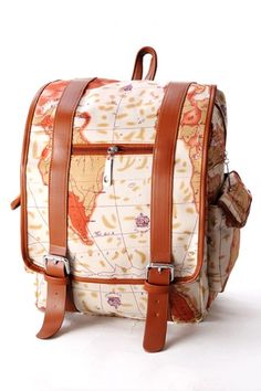 Map Graphic Backpack OASAP.com