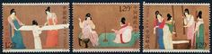 CHINA PEOPLES REPUBLIC - Scott NEW ISSUE Painting of Beating White Silk 2013 (3)  Another stamp from Herrick Stamp Company