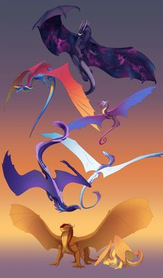 My Little Wings of Fire. by turnipBerry on DeviantArt Wings Of Fire Dragons, Cool Dragons, Mythical Creatures Art, Fantasy Creatures, Creature Drawings, Animal Drawings, Types Of Dragons, Manga Dragon, Dragon Wing