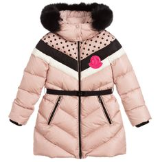 Moncler Enfant - Girls Pink Down Puffer Coat Moncler, Warm Down, Baby Suit, Down Puffer Coat, Winter Kids, Little Girl Outfits, Kids Wear, Winter Outfits, Winter Dresses