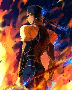 Fate/Stay Night - Lancer by Nishita