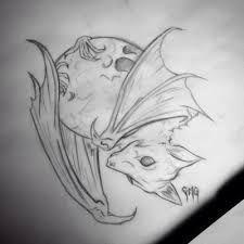 Image result for bat and skull tattoo design
