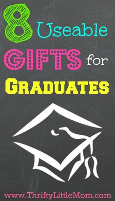 8 Useable Gifts for Graduates. Instead of writing a check or sending a card, consider getting your grad a gift they can use and enjoy! Here are 8 ideas for inspiration.