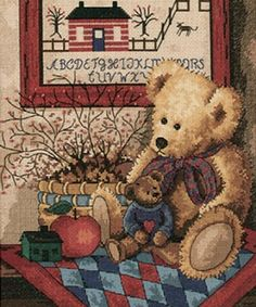 """Old Teddies Counted Cross Stitch Kit-10""""x12"""""""
