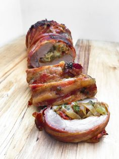 Pork Recipes, Mozzarella, Baked Potato, Bacon, Tapas, Food And Drink, Yummy Food, Cheese, Snacks