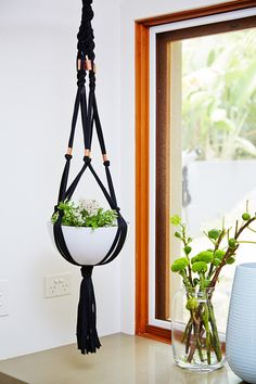 For many years I have been using macrame for plant hangers and wall hangings, as far back as the when macrame was trending. Macrame is an inexpensive way to create your own plant hangers - and fun too! Macrame Plant Hanger Patterns, Free Macrame Patterns, Macrame Plant Holder, Macrame Plant Hangers, Plant Holders, Macrame Art, Macrame Projects, Diy Projects, Garden Projects