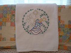 Glad Tidings Angel Flour Sack Dish Towel by SugarHillEnterprises