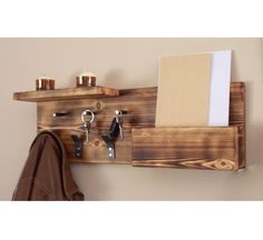 entryway organizer coat hooks key hooks large by rustichandcrafts