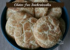 Gluten-free Snickerdoodles -Crispy edges, chewy centers, and yummy cinnamon flavor!