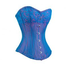 Burlesque Turquoise and Lilac Corset