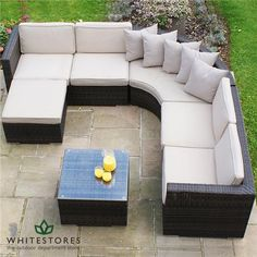 Garden Furniture Rattan Maze 43 Ideas For 2019 Furniture Sofa Set, Leather Living Room Furniture, Rattan Garden Furniture, Garden Table And Chairs, Farmhouse Furniture, Outdoor Furniture Sets, Outdoor Decor, Rattan Corner Sofa, Corner Sofa Set