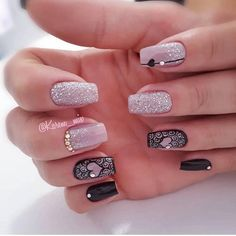 Que nota de 0 a 10 meninas? Trendy Nail Art, Stylish Nails, May Nails, Hair And Nails, Perfect Nails, Gorgeous Nails, Cute Acrylic Nails, Cute Nails, Gothic Nails