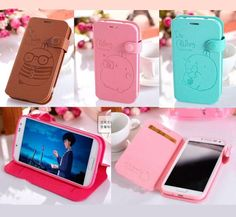 Molang wallet card flip case cover Leather