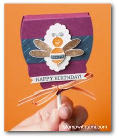 Stampin Up Lollipop covers - video, directions and supply list on blog