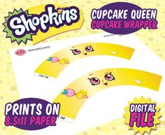 3 page digital Pdf of Shopkins Themed Cupcake Wrappers - Includes Beginner and expert versions in Medium or large size - Prints best on lb card stock Restocked Shopkins Bday Cake, Shopkins Cookies, Shopkins 7, Shopkins Ideas, Kylie Birthday, 3rd Birthday Parties, Girl Birthday, Themed Cupcakes, Fun Cupcakes