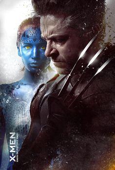 Jennifer Lawrence & Hugh Jackman Are Front & Center for New 'X-Men' Posters!: Photo Jennifer Lawrence and Hugh Jackman go front and center in this new poster for their highly anticipated movie X-Men: Days of Future Past. The film is uniting the… Gambit Movie, New Mutants Movie, Wolverine Movie, Logan Wolverine, Marvel Comics, Hq Marvel, Marvel Cinematic, Kitty Pryde, Poster Boys