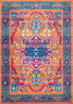 The Persian Fancy Medallion Velva Collection from Turkey has the perfect mix of textural detail, beautiful coloration, and Polypropylene. Featuring truly Traditional patterns, Persian Fancy Medallion Velva can blend seamlessly with a range of interiors. Orange Area Rug, Orange Rugs, Blue Area, Bohemian Design, Bohemian Rug, Bohemian Style, Bohemian Lighting, Bohemian House, Boho Decor