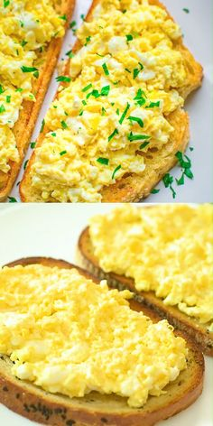 Scrambled Egg Toast - Easy Breakfast Ideas - Quick and Healthy Breakfast Recipes Breakfast Dishes, Healthy Breakfast Recipes, Best Breakfast, Breakfast Burrito Recipes, Breakfast Ideas With Eggs, Breakfast Pictures, Easy Brunch Recipes, Breakfast And Brunch, Mexican Breakfast
