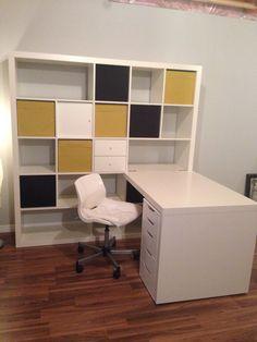 My workshop under construction! Expedit and Alex from ikea - New Deko Sites Dresser Furniture, Furniture Design, Kallax Desk, Ikea New, Cute Room Ideas, Aesthetic Room Decor, Dream Decor, Dream Rooms, Room Inspiration