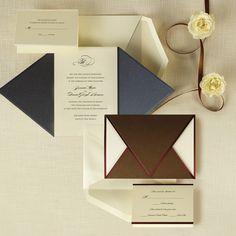 Wrapped in Love Wedding Invitation   #exclusivelyweddings   #brownwedding