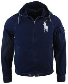Polo Ralph Lauren Mens NylonCotton Blend Hooded Windbreaker