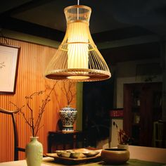 Pastoral Creative Bamboo Dining Room Pendant Lamp Bar Pendant Lamp Shops Pendant Lamp