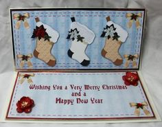 Card Gallery - Christmas Stockings DL Card Front with Insert