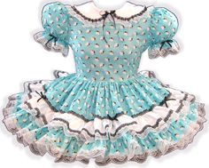 """/""""Betty/"""" CUSTOM FIT Lacy Pink White Cotton Apron Adult Baby Sissy Dress LEANNE"""