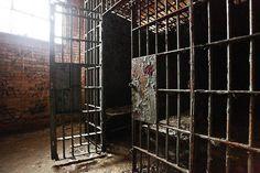 abandoned police station, Detroit.