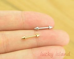 Helix Earring Jewelry,arrow piercing jewelry,cone Helix Cartilage jewelry,tragus earring,friendship ear piercing,bff gift on Etsy, € 3,47