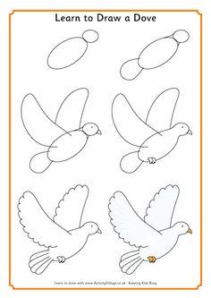 Easy christmas drawing easy drawings in pencil drawing easy christmas drawings for cards Simple Bird Drawing, Easy Butterfly Drawing, Basic Drawing, Drawing Lessons, Art Lessons, Learn Drawing, Easy Pencil Drawings, Easy Flower Drawings, Bird Drawings