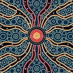 Connection concept, Aboriginal art vector painting The simple truth is this Aboriginal Art Symbols, Aboriginal Patterns, Aboriginal Dot Painting, Dot Art Painting, Abstract Art, Encaustic Painting, Aboriginal Dreamtime, Aboriginal Art Australian, Indigenous Australian Art