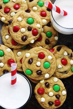 Santa's Cookies (Double Chocolate Chip M&M Cookies)