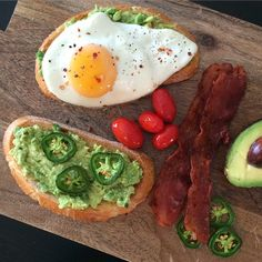 Good morning - have a great Saturday! Avocado toast, fried egg, tomoatoes and bacon #delicious #fresh #healthyfood #flavour @zimmysnook
