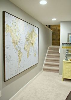 how to make a dark room or basement look brighter with lighting