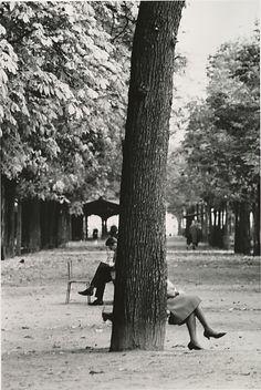 The Champs Elyseés, Paris, 1929.  by André Kertész