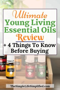 Trying to decide which is the best essential oil brand? This review goes in-depth into why Young Living essential oils stand out above the rest, and how you can know if Young Living is the right company for you! #TheSimpleLifeSimplified #youngliving #essentialoils #bestessentialoils Essential Oil Brands, Essential Oils For Skin, Young Living Essential Oils, Holistic Approach To Health, Health And Wellness, Natural Lifestyle, Healthy Lifestyle, Best Oils, Natural Health Remedies