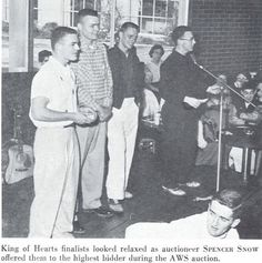 King of Hearts AWS auction 1956. From the 1956 Oregana (University of Oregon yearbook). www.CampusAttic.com