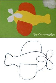 Manualidadesconmishijas. Avión de cartulina. Kids craft. Aeroplane. Punch art Preschool Classroom, Preschool Crafts, Classroom Ideas, Aeroplanes, Pre School, School Stuff, Art For Kids, Transportation, Collage