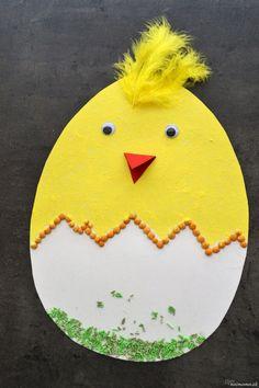 Vytvorte si spolu s deťmi veselé žlté kuriatko.