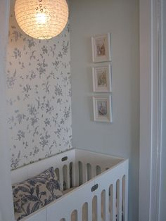 A Tiny Closet Is Transformed Into a Beautiful Nursery: When Baby Bliss blogger Jordan and her husband, Chris, from were expecting their first child, they devised a simple renovation to keep them in their one-bedroom apartment for baby's first year; they converted their bedroom closet into a stylish nursery nook.