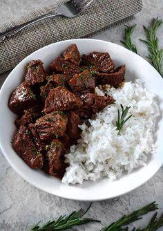 Garlic and Rosemary Beef Tips