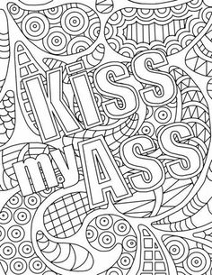 Free Adult Coloring Pages Swear Words