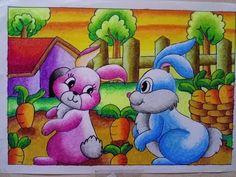 Pastel art ideas for kids artists 67 New ideas Cute Disney Drawings, Art Drawings For Kids, Easy Drawings, Realistic Drawings, Drawing Sunset, Drawing Scenery, Oil Pastel Art, Oil Pastel Drawings, Oil Pastels