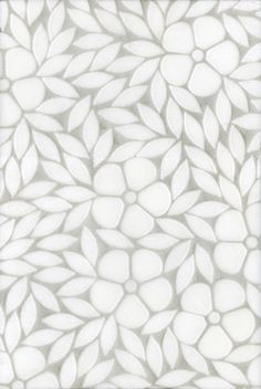 Jacqueline, a natural stone waterjet mosaic shown in tumbled Thassos, is part of the Silk Road Collection by Sara Baldwin for New Ravenna Mosaics. Stone Mosaic, Mosaic Art, Mosaic Tiles, Bath Tiles, Mosaic Mirrors, Marble Mosaic, Pretty Patterns, Tile Patterns, Textures Patterns