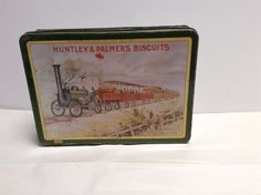 Vintage Huntley & Palmer Biscuit tin. The Rocket 1830 Train London and Reading | eBay