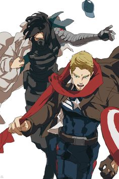I like how Steve looks very determined and Bucky just looks resigned.
