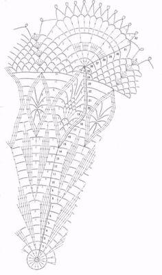 Crochet Center table - blooming flower - pattern