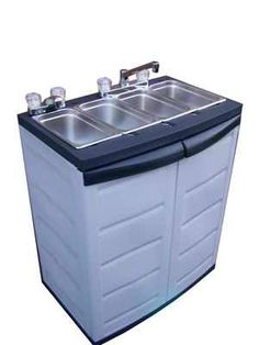 "$695 00 Portable Concession 4 ""3"" Compartment Sink 