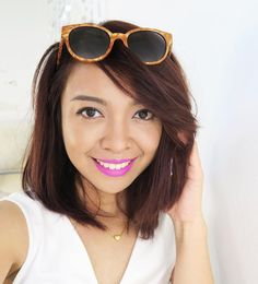 First summer #FOTD wearing my new faves from @maybellineph that are about to hit Maybelline counters nationwide real soon! Vivid Matte Lipsticks (I'm wearing Neon Pink ) HyperSharp Power Black Eyeliner (waterproof!!) Dream Satin Skin Foundation (shade B2 super lightweight) Fashion Brow Duo Shaper in Brown collective review on gen-zel.com tonight! . PS. It's my blog's (Gen-zel.com formerly known as GenzelKisses.com) 4th Anniversary today!!! I'm cooking somethin' for you guys! So stay tuned…